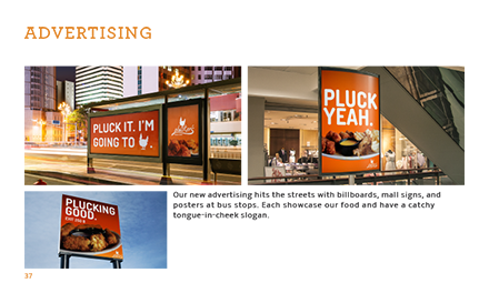 Plucker's Re-Brand Manual Advertising Page