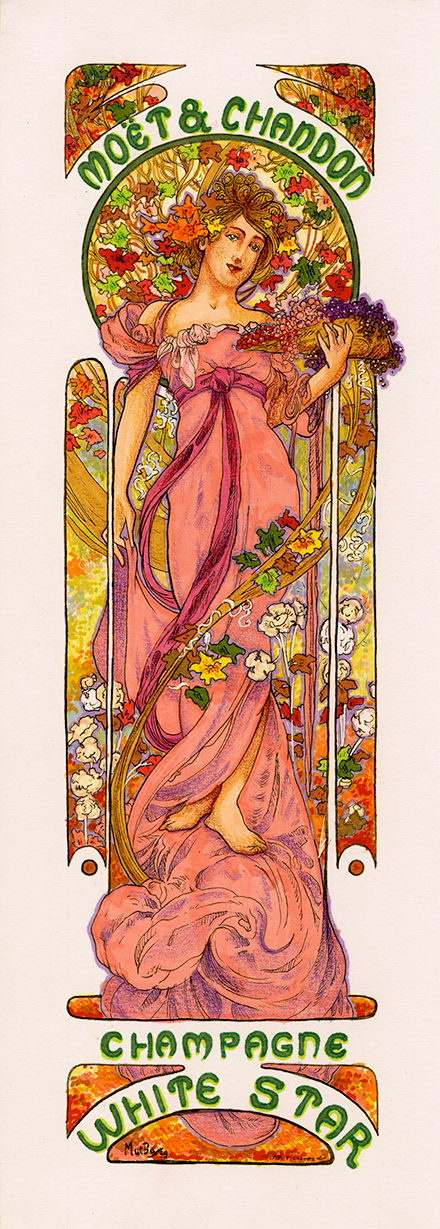 Alphonse Mucha White Star Replica Illustration
